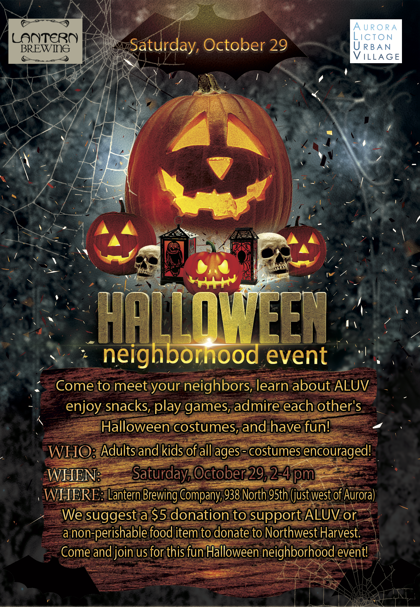 Halloween night at the Lantern